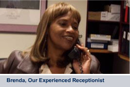 Brenda, Our Experienced Receptionist
